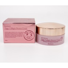 Deoproce Piggy Collagen Bounce Cream 100g - Омолаживающий крем на основе свиного коллагена 100г