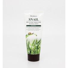 Deoproce Snail Recovery Moisture Hand & Foot Cream - Восстанавливающий крем для рук и тела с экстрактом слизи улитки 100мл